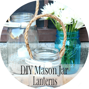Mason Jar Lanterns - penniesintopearls.com - mason jar crafts. Frugal and fabulous mason jar craft idea. Just a couple bucks and you are ready to decorate!