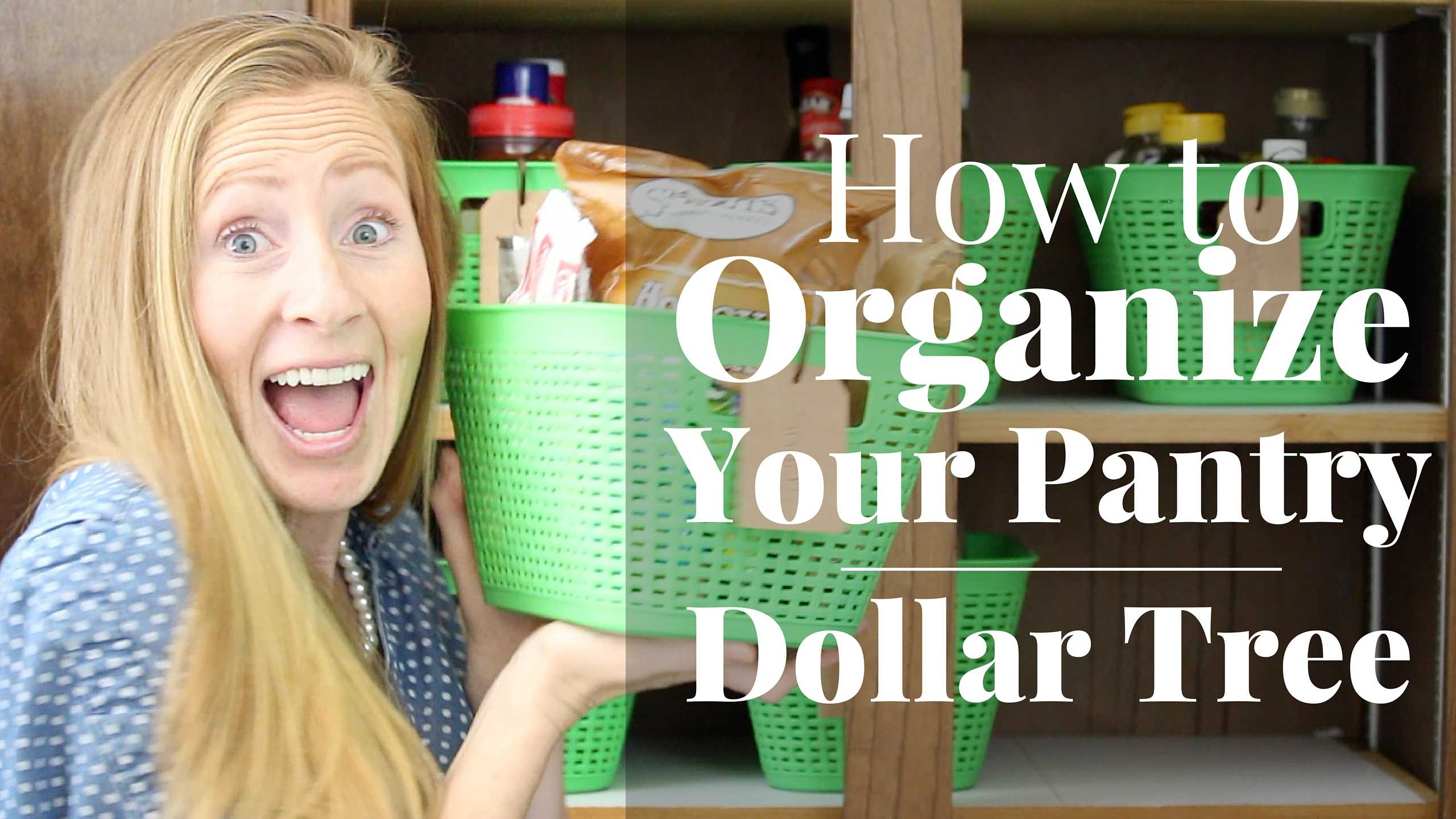 How To Organize Your Pantry Dollar Tree Organization